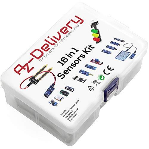 AZDelivery 16 en 1 Kit – Set de Accesorios compatible con Arduino y Raspberry Pi con E-Book incluido!