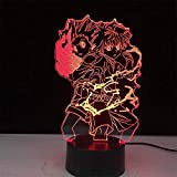 Lámpara 3D lámpara Anime lámpara 3D Ataque en y titán Yeager...