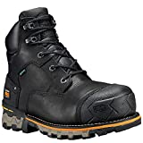 Timberland PRO Men's Boondock 6' Composite Toe Waterproof Industrial & Construction Shoe, Black Full Grain Leather, 10.5 M US