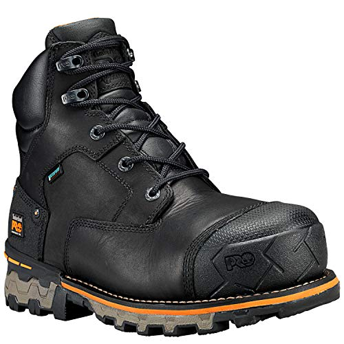 Timberland PRO Men's Boondock 6' Composite Toe Waterproof Industrial & Construction Shoe, Black Full Grain Leather, 9 M US