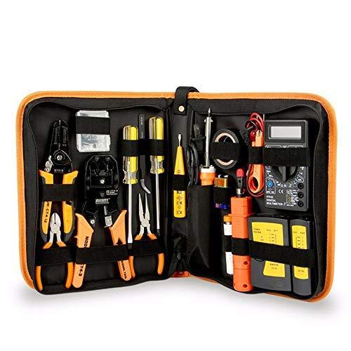 YAMEIJIA 17 in 1 handgereedschapsset Elektronische reparatie gereedschapsset elektrische soldeerbout kit tang pincet digitale multimeter set