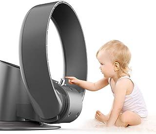 N / A Ventilador sin aspas del Ventilador de Pared circuladores de Aire Ultra silencioso con el Mando a Distancia/oscilantes Temporizador de Ahorro de energía del Ventilador Elegante,Negro