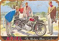 ブリキ看板1939アリエルオートバイグッズウォールアート
