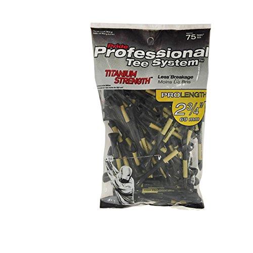 "Pride PTS Titanium Strength Wooden Tees (2 3/4""), Bag of 75 Tees"