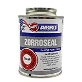 ABRO ZS20U-250 ZORROSEAL Solvent Cement for UPVC Pipes & Fittings Fast Setting Liquid Adhesive for Plumbing & Sewage Systems (250 ml)