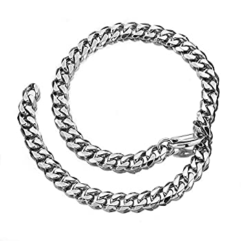 Cuban Link Chain bracelet Xxxt Adjustable Choker with tail Hip Hop Miami 15mm Big Stainless Steel Curb Rapper Necklace for Men  8