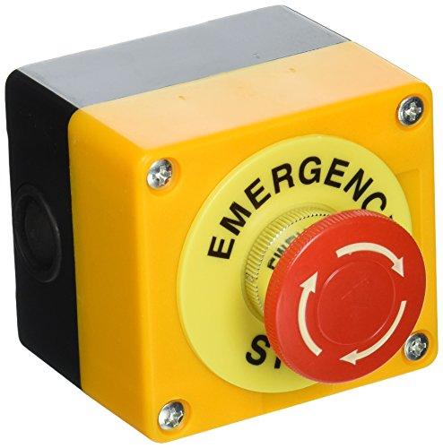 Sourcingmap Not-Aus-Knopf mit Kunststoffgehäuse AC 660 V, 10A Rot Pilzform de