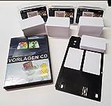 SPP445 - PVC Kartendrucker Starterpack Alles drin Kartenschublade - Drucktray inkl. 160 Inkjet PVC Karten und Druckvorlagen CD für Canon Pixma TS8050 | TS9050 | TS8150 | TS8151 | TS8152 u.v.m.
