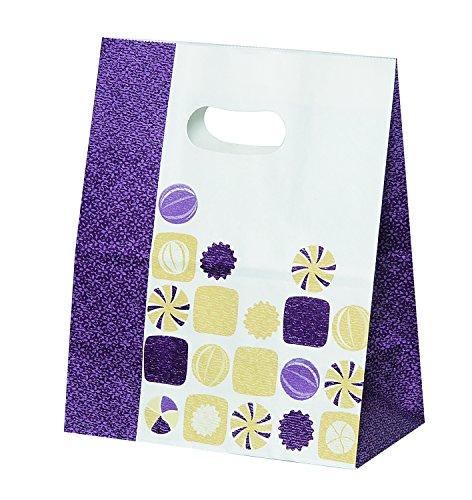 パックタケヤマ 紙袋 イーグリップ飴玉柄 小豆 M 50枚 XZT52020