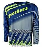 HEBO Stratos Camiseta Enduro-Cross, Adultos Unisex, Azul, Small