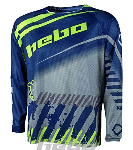 Hebo Stratos T-Shirt Enduro-Cross, Unisex, Blau, Small