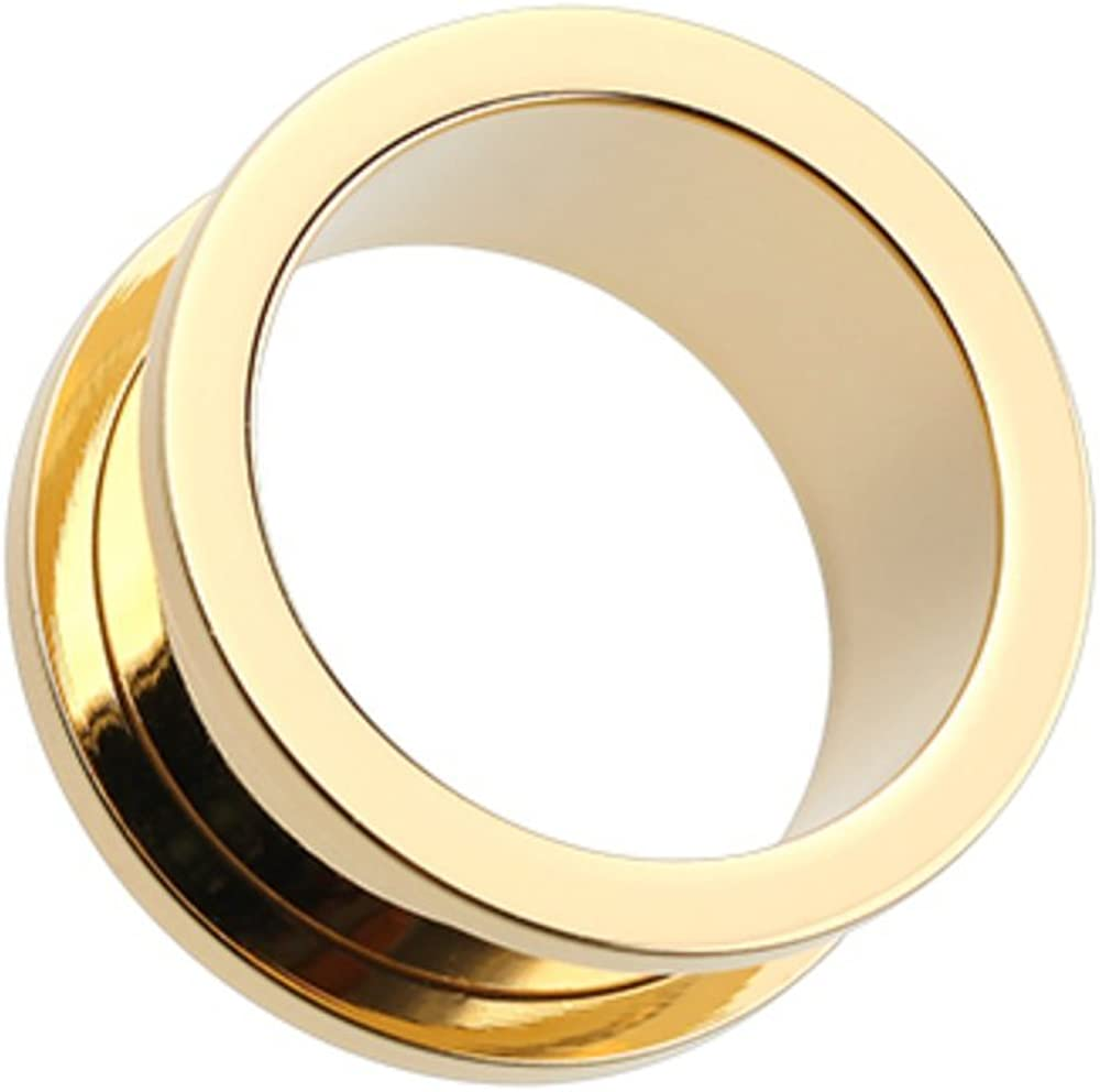 At the price of surprise Covet Jewelry Gold Plated specialty shop Screw-Fit Gauge Tunnel Ear Plug