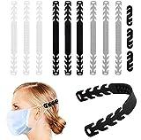 Dioxide 12pcs Extensores de correa para la oreja, cierre de velcro, hebilla de silicona, ajuste antiapretamiento, antideslizante, protector para aliviar el dolor de oído, para niños y adultos