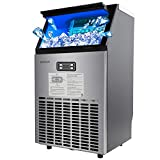 ROVSUN Built-in Stainless Steel Freestanding Ice Maker,100lbs/24h,...