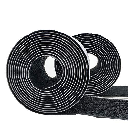 Eroilor Nastro autoadesivo in velcro, larghezza 50 mm, nero