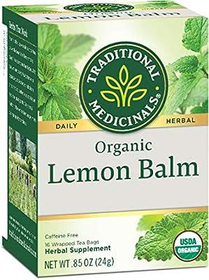 Traditional Medicinals Organic Lemon Balm Tea, 16 Tea Bags by Traditional Medicinals