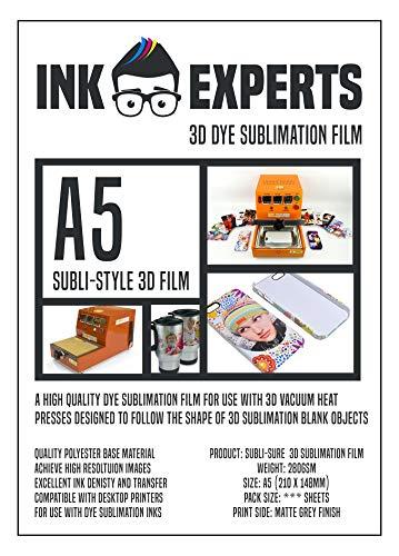 Ink Experts 3D Folie Subli-Style A5 (25 Blatt)