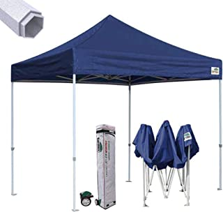 Eurmax Premium 10'x10' Ez Pop-up Canopy Tent Commercial Instant Canopies Shelter with Heavy Duty Wheeled Carry Bag (Navy Blue)