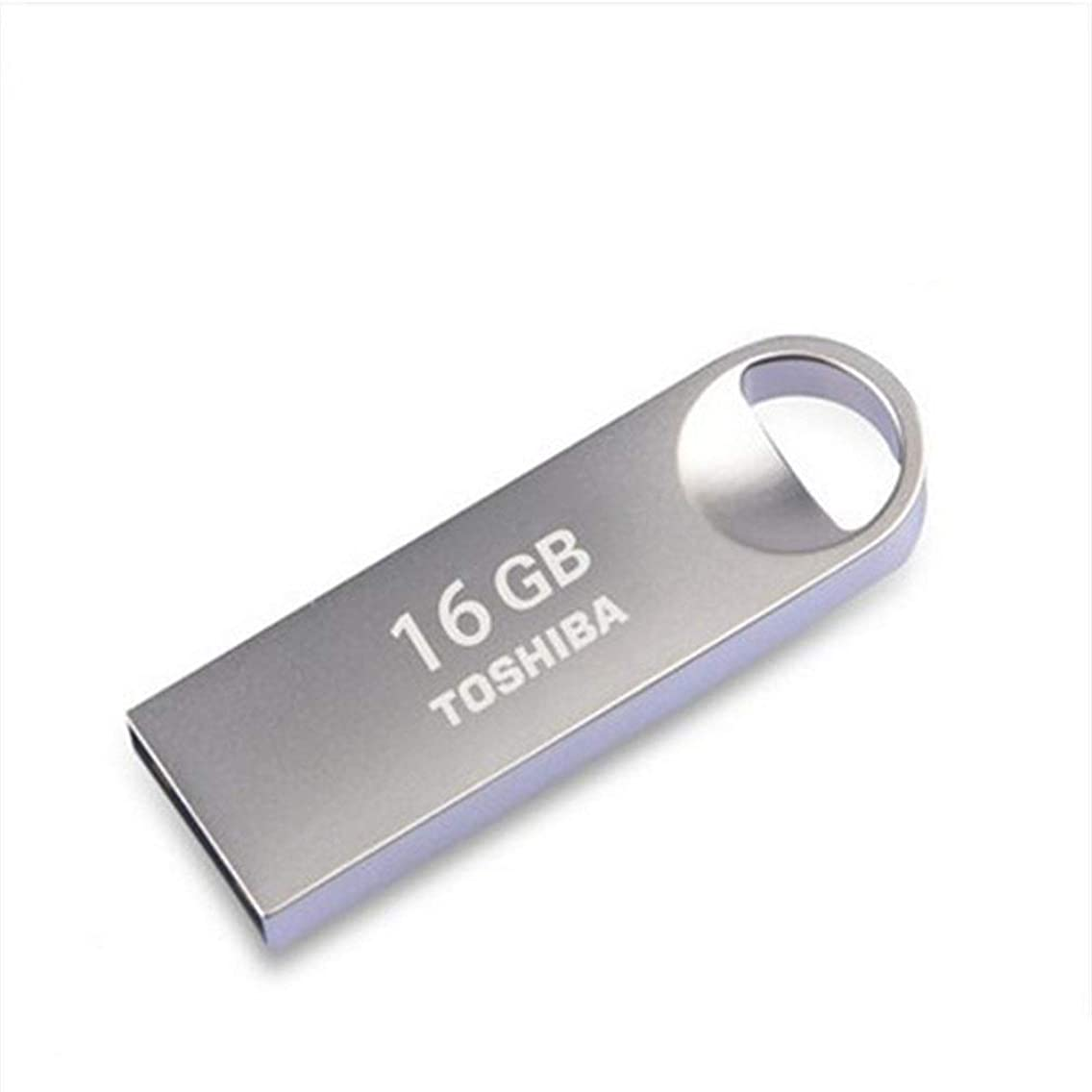 MUZIWENJU USB Flash Drive, 8gb/16gb/32gb/64gb, USB2.0 Memory Stick, Metal Waterproof Flash Drive, Silver (Capacity : 16GB)