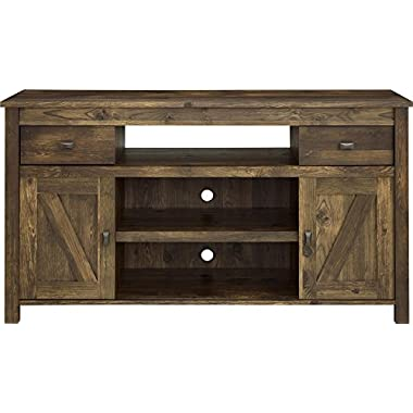 Ameriwood Home Farmington TV Stand for TVs up to 60  Wide, Rustic
