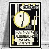 HD Bauhaus Ausstellung 1923 Exposición de carteles de arte de pared y lienzos decorativos retro en la sala de estar A1 60x90cm
