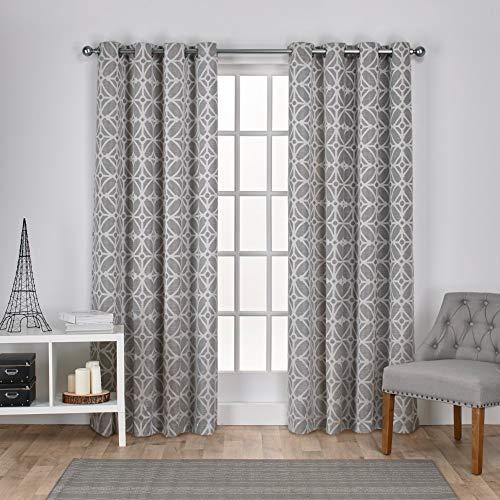 Exclusiva casa Cortinas Cressy geométrico Textura de Lino d