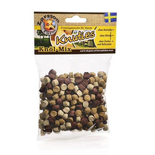 Larsson ®   KNUTIES Kauartikel - Knöl-Mix Hunde Snack Leckerlie 150gr