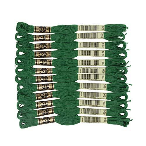 DMC 6-Strand Embroidery Cotton Floss, Christmas Green