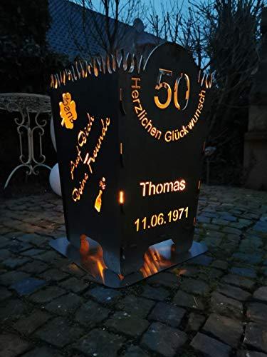 Metallzuschnitt Feuerschale/Feuerkorb Geburtstag