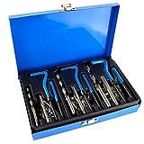 AB Tools-US Pro Kit de reparación e instalación de Rosca helicoil Set 88pc tamaños métricos M6-M10 A212