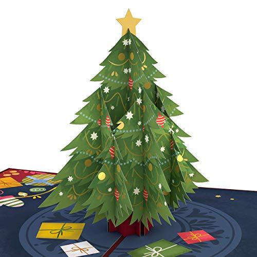 Lovepop Festive Christmas Tree Pop Up Card - 3D Card, Christmas Pop Up Card, Christmas Tree Card, Holiday Pop Up Card, 3D Christmas Card, Merry Christmas Card, Holiday Greeting Card