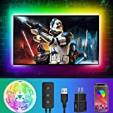 TV LED Light Strip, 13Ft TV LED Backlight for 55-65in TV, LED Lights for TV with Bluetooth App Control, Sync with Music, USB Powered 5050 RGB Bias Lighting for PC Monitor Gaming Room