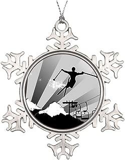 Yilooom Ideas for Decorating Christmas Trees Ski Powder Trail Downhill Skis Snowflake Ornaments Canada