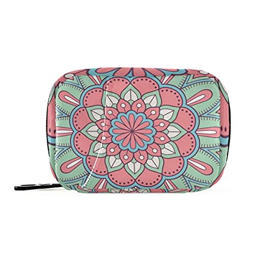 Bolsa de pastillas, diseño de mandala con cierre de velcro para hombres, mujeres, niños, adultos