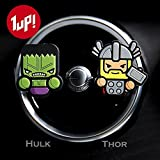 Sunbre - Deodoranti per auto, 2 pezzi - personaggi Marvel Avengers Hero Star Wars Figure Cartoon.