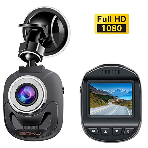 Mini Dash Cam for Cars Driving Recorder 1080P FHD Dashboard Camera 1.5inch LCD Screen 140°Wide Angle Front Recorder with G-Sensor, WDR Night Vision Loop Recording Motion Detection Parking Monitoring