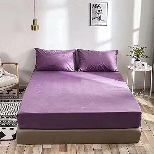 CYYyang Protector de colchón/Cubre colchón Acolchado de Fibra antiácaros, Transpirable, Sábana Impermeable con impresión Todo Incluido-5_180 * 200cm
