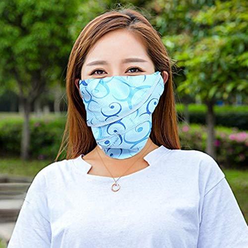Zonnescherm Face Cover Ademend UV-blokkering Nekbescherming Masker Gezichtsmasker voor buiten rijden