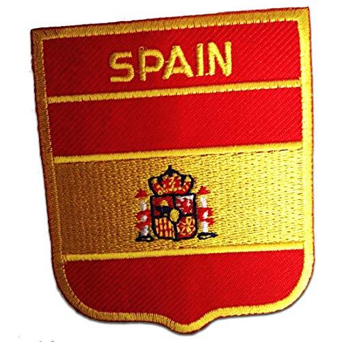 Spanien Flagge Fahne - Aufnäher, Bügelbild, Aufbügler, Applikationen, Patches, Flicken, zum aufbügeln, Größe: 6,2 x 7,5 cm