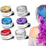 Cera per capelli styling per uomini e donne Crema per capelli temporanea 9 colori crema per capelli colorante usa e getta opzionale (Arancione)