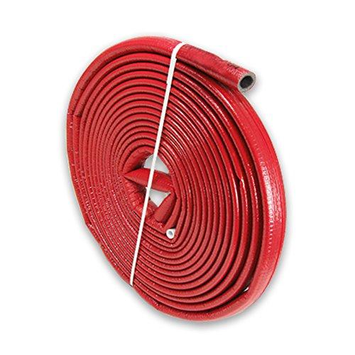 10m PE-Rohrisolierung rund mit Schutzhaut rot DN 16-18mm - Isolierstärke 4mm