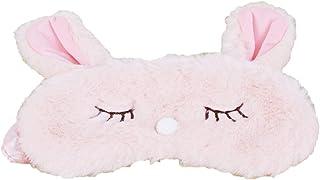 LALANG Winter Warm Fluffy Rabbit Sleeping Eye-Shade Travel Eye Mask Shade Cover