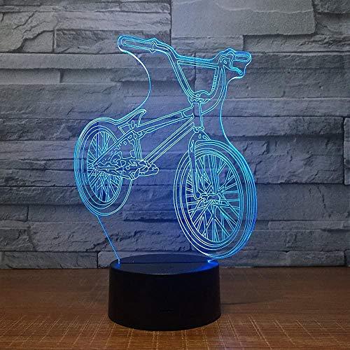 WxzXyubo Lámpara de ilusión 3D para bicicleta, luz al lado de la...