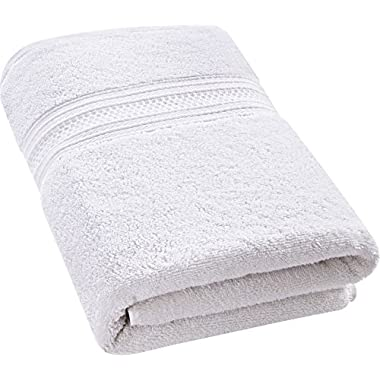 Utopia Towels 700 GSM Premium Cotton Bath Towel (White, 27 x 54 Inch) Luxury Bath Sheet Perfect for Home, Bathrooms, Pool and Gym Ring-Spun Cotton