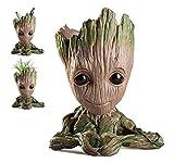 Cute Baby Groot Flowerpot Tree Man Maceta Maceta Con Orificio De Drenaje Portalápices, Diligencer Adorno De Fiesta De Oficina Regalo De Cumpleaños De Navidad 6.1'maceta (en Forma De Corazón)