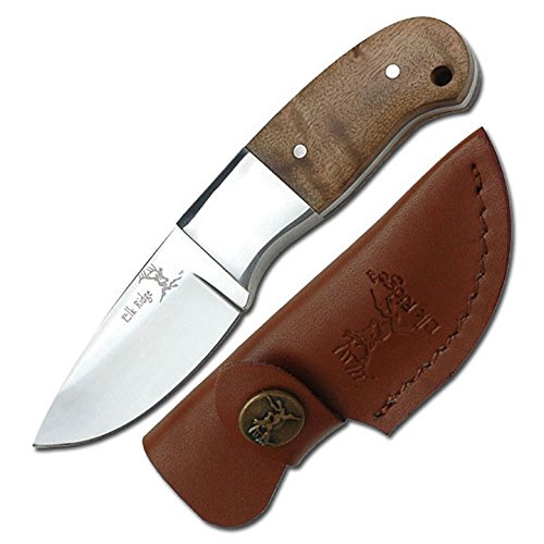 ELK RIDGE Erwachsene ER-111 Taschenmesser, Wurzelholz-Griff, M