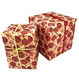 Funny Pizza Gift Wrapping Paper   3 Sheets   27x39   3 Sheets Per Pack   High Quality Thick Vibrant Glossy Paper