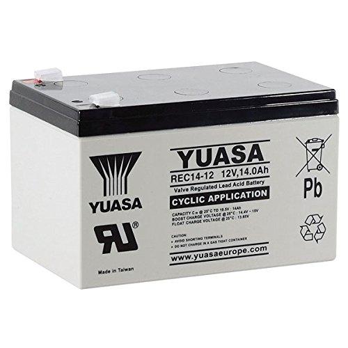 Batería cíclica YUASA REC14-12 12V 14Ah Medidas (mm). Largo:151 x Ancho:98 x Alto:98 (Sustituye al Modelo YPC14-12)
