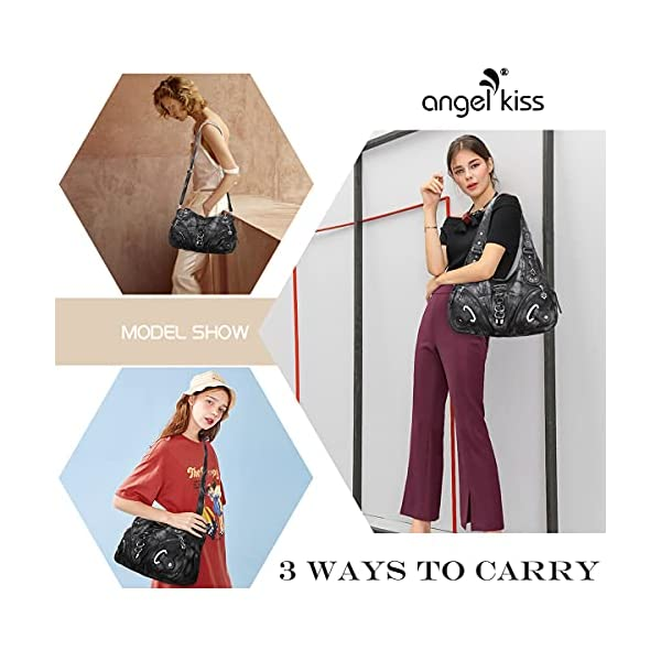Angelkiss Hobo Purses and handbags for Women Satchel Handbag Women Purses Large Daily Shoulder Bags…