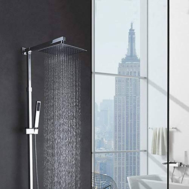 Badezimmer-Ausrüstungs-Brauseset für kupferne thermostatische Duschesetduschen eingestelltes heies und kaltes Hahneset für an der Wand befestigte Handdusche